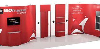 Le stand parapluie à moduler correspond à une solution idéale pour les évènements professionnels